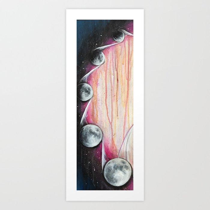 Moon Phases Art Print