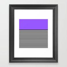 STRIPE COLORBLOCK {PURPLE} Framed Art Print