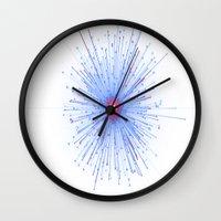 big bang Wall Clocks featuring Big Bang by MotoNS