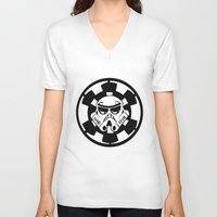 trooper V-neck T-shirts featuring Trooper by Ana Amorim