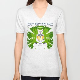Cat Astro Phi Unisex V-Neck