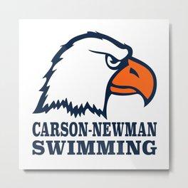 Carson-Newman Swimming Metal Print