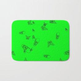 Green Skulls Bath Mat