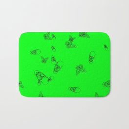 Green Skulls Bath Mat