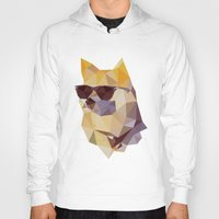 doge Hoodies featuring Polygonal Doge  by Michael Fortman