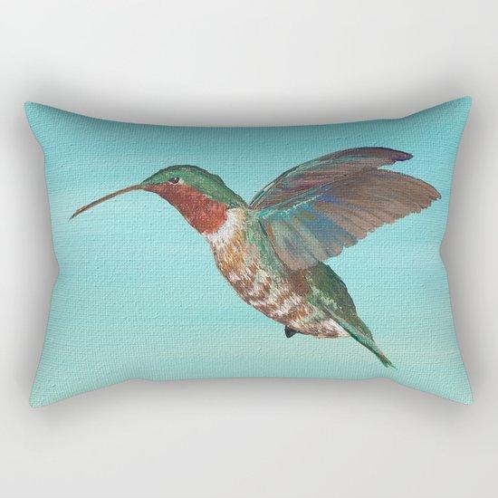 Hummingbird on the Move Rectangular Pillow