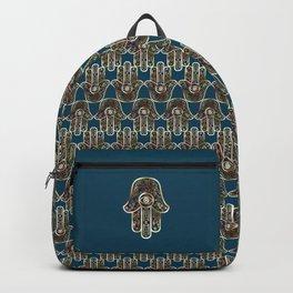 Hamsa Mosaic Pattern Backpack