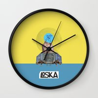 bubble Wall Clocks featuring Bubble by LOSKA