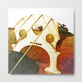 Just a Cello Bridge Metal Print
