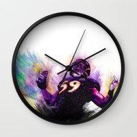 nfl Wall Clocks featuring 10 Point Underdogs - Ellerbeast by JsR_OtR