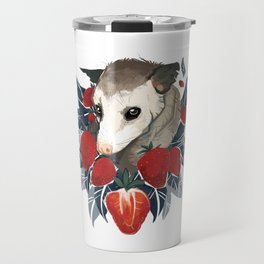 Strawberry Opossum by Alison Polston Travel Mug