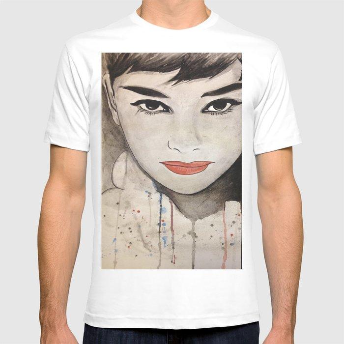 Audrey Hepburn watercolor T-shirt