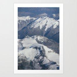 Long White Cloud Scape. Art Print