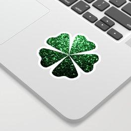 Glamour Dark Green glitter sparkles Sticker