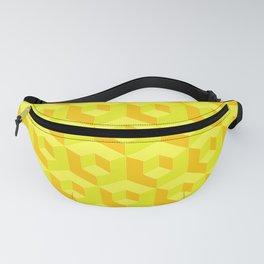 Geometric Yellow Cubic Fanny Pack