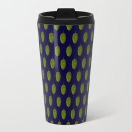 Hops Dark Blue Pattern Travel Mug