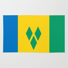 Saint Vincent and the Grenadines country flag Rug