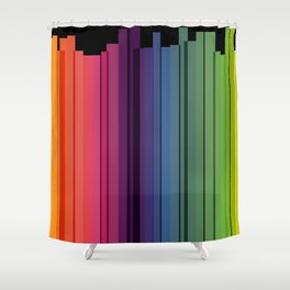 City tales in rainbow colors Shower Curtain