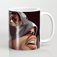 lebron Mugs featuring THE KING by THEMAD3