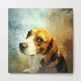 Regal Beagle Metal Print
