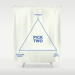 Pick Two Shower Curtain