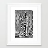 moschino Framed Art Prints featuring obsessed moschino by Claudio Velázquez