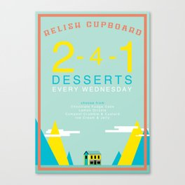 Two For One Desserts Canvas Print