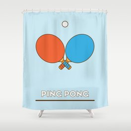 I am the sport! part1 ping pong  Shower Curtain
