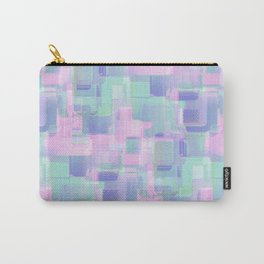 Abstraction. Pink and blue brush strokes. Carry-All Pouch
