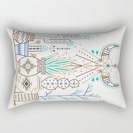 Santa Fe Garden – Turquoise & Brown Rectangular Pillow