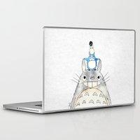 ghibli Laptop & iPad Skins featuring Ghibli  by Joan Pons