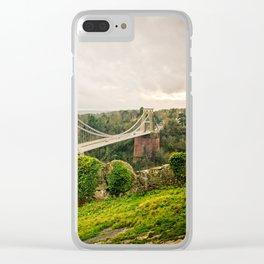 Bristol- Clifton Suspension Bridge Panorama Clear iPhone Case
