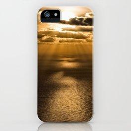Sunrise over the Atlantic ocean iPhone Case