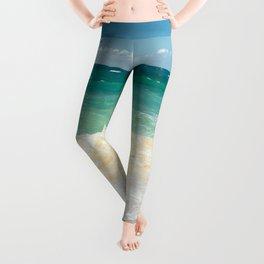 beach blue Leggings