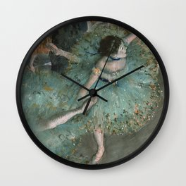 Swaying Dancer - Edgar Degas Wall Clock