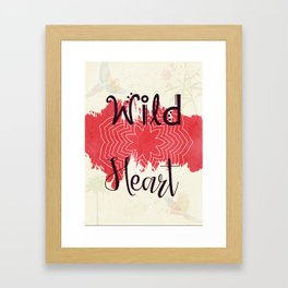 Wild Heart - Boho Gypsy Soul Framed Art Print