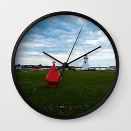 Marker Buoy and Lighthouse Wall Clock