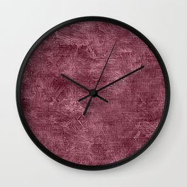Crushed Berry Oil Painting Color Accent Wall Clock