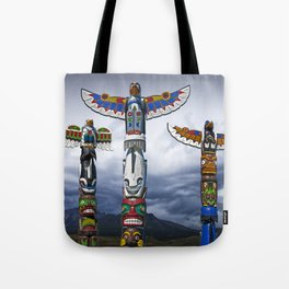 Colorful Totem Poles in the Northwest Tote Bag
