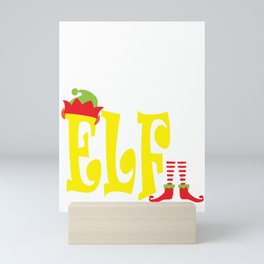 sister elf, christmas, christmas gift, xmas, xmas gift, elf gift, from brother, sister gifts Mini Art Print