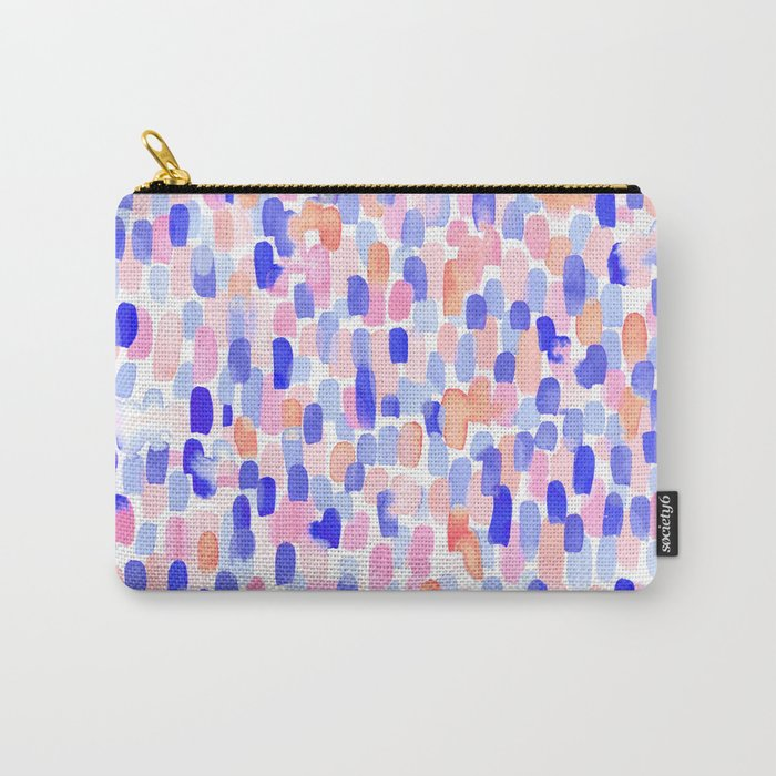 Delight Blue Orange Carry-All Pouch
