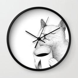 Coffe & Cat Wall Clock