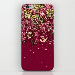 Purple drooping flowers iPhone Skin