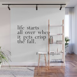 Fitzgerald fall quote Wall Mural