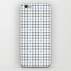 Dotted Grid Weave Blue Black iPhone & iPod Skin