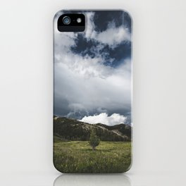 Landsape Waterton Meadow and Rolling Hills | Nature | Skyscape Clouds iPhone Case