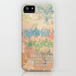 Sparrows & Lilies iPhone Case