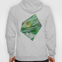 Crystal Green Watercolor Gem Hoody