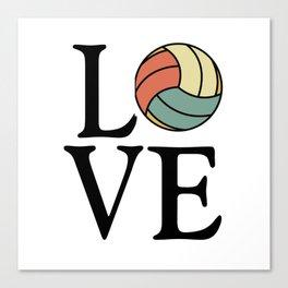 Volleyball Love - Vintage Sport Ball Design Canvas Print
