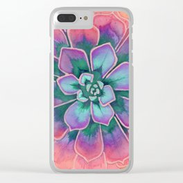 Winter Succulent Clear iPhone Case